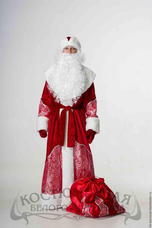 """Карнавальные костюмы ручной работы. Ярмарка Мастеров - ручная работа. Купить Костюм Дед Мороз """"Парчовый"""" красный. Handmade."""