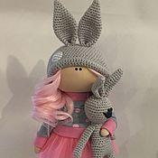 Куклы и пупсы ручной работы. Ярмарка Мастеров - ручная работа Текстильная кукла ручной работы зайка. Handmade.