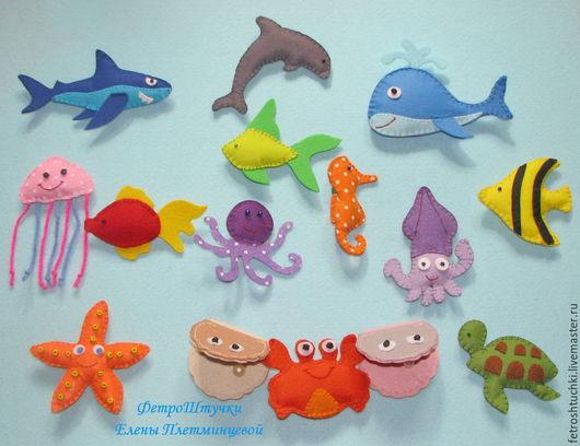 """Развивающие игрушки ручной работы. Ярмарка Мастеров - ручная работа. Купить Набор игрушек """"Подводный мир"""". Handmade. Подводный мир"""