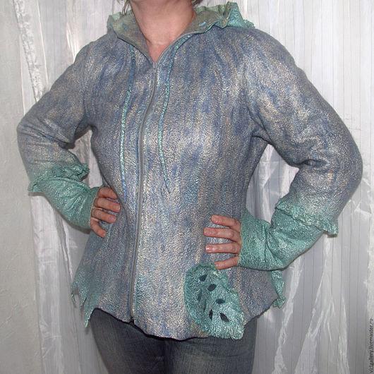 """Пиджаки, жакеты ручной работы. Ярмарка Мастеров - ручная работа. Купить Валяная кофта куртка """"Мятные листья"""". Handmade. Мятный"""