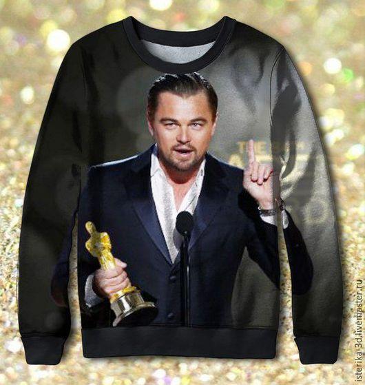 Кофты и свитера ручной работы. Ярмарка Мастеров - ручная работа. Купить Свитшот с принтом Оскар для Леонардо Ди Каприо. Handmade.