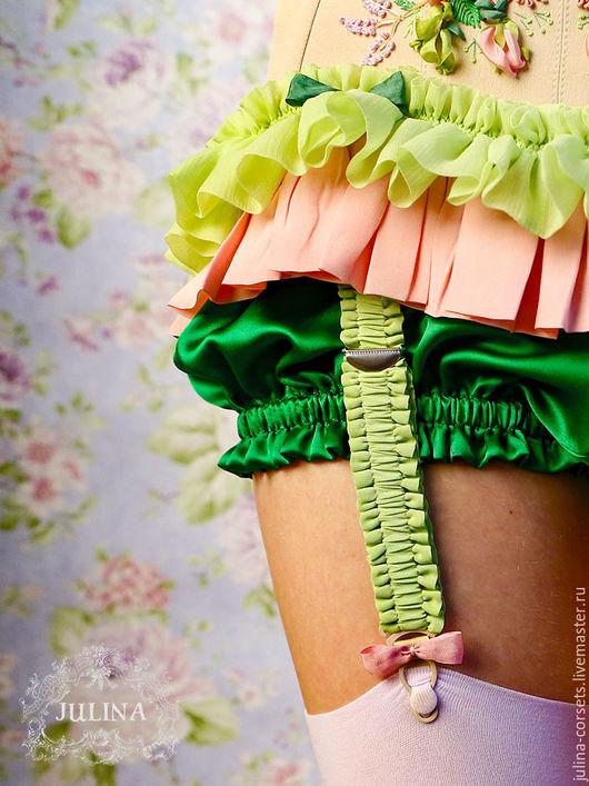 Белье ручной работы. Ярмарка Мастеров - ручная работа. Купить Панталончики натуральный шелк. Handmade. Ярко-зелёный, шортики