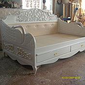 """Для дома и интерьера ручной работы. Ярмарка Мастеров - ручная работа кровать резная """"Белый Лебедь"""". Handmade."""