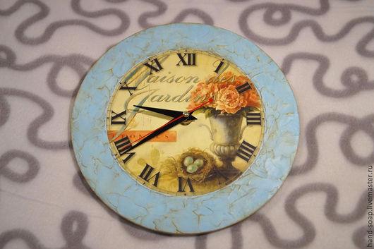 """Часы для дома ручной работы. Ярмарка Мастеров - ручная работа. Купить Часы  """"Прованс"""". Handmade. Голубой, часы интерьерные, мдф"""