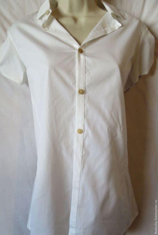Одежда. Ярмарка Мастеров - ручная работа. Купить Париж 100%Хлопок Бутиковая Стильная Блуза. Handmade. Белый, изысканные вещицы, 100%хлопок
