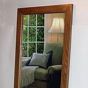 Зеркала ручной работы. Ярмарка Мастеров - ручная работа Зеркало в темной дубовой раме. Handmade.