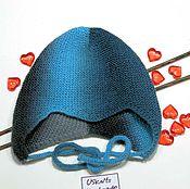 Работы для детей, ручной работы. Ярмарка Мастеров - ручная работа Детская шапочка вязаная тонкая с ушками и мысиком. Handmade.
