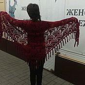Одежда ручной работы. Ярмарка Мастеров - ручная работа Шаль женская  100% шерсть. Handmade.