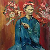 """Картины и панно ручной работы. Ярмарка Мастеров - ручная работа Пабло Пикассо """"Мальчик с трубкой"""". Handmade."""