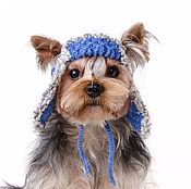Для домашних животных, ручной работы. Ярмарка Мастеров - ручная работа Вязаная шапка-ушанка для собаки. Handmade.