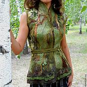 """Одежда handmade. Livemaster - original item Валяный жилет """"Лесная нимфа"""". Handmade."""