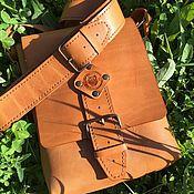 Мужская сумка ручной работы. Ярмарка Мастеров - ручная работа Мужская сумка из натуральной кожи. Handmade.