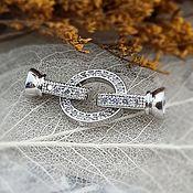 Материалы для творчества handmade. Livemaster - original item Lock with zircons about 27 mm platinum (3854). Handmade.