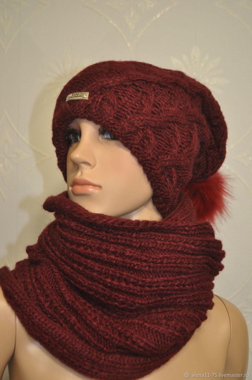 Knitted set with Snood, Headwear Sets, Lipetsk,  Фото №1