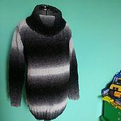 Одежда ручной работы. Ярмарка Мастеров - ручная работа Свитер серо - черный. Handmade.