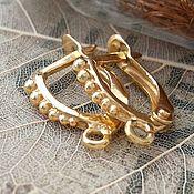 Материалы для творчества handmade. Livemaster - original item Shvenzy gold-plated with lock 14 mm (3305). Handmade.