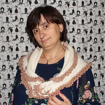 Одежда ручной работы. Ярмарка Мастеров - ручная работа Пончо: Воротник-шарф. Handmade.