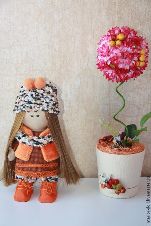 """Куклы тыквоголовки ручной работы. Ярмарка Мастеров - ручная работа. Купить Интерьерная кукла """"Машенька"""" рост 24 см.. Handmade."""