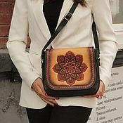 Сумки и аксессуары handmade. Livemaster - original item Leather women`s author`s bag Hindustan. Handmade.
