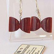 Винтаж handmade. Livemaster - original item Amber Earrings Bows Silver 925 star amber Cognac vintage. Handmade.