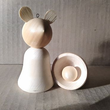 Материалы для творчества ручной работы. Ярмарка Мастеров - ручная работа Мышка-колокольчик (символ 2020). Handmade.