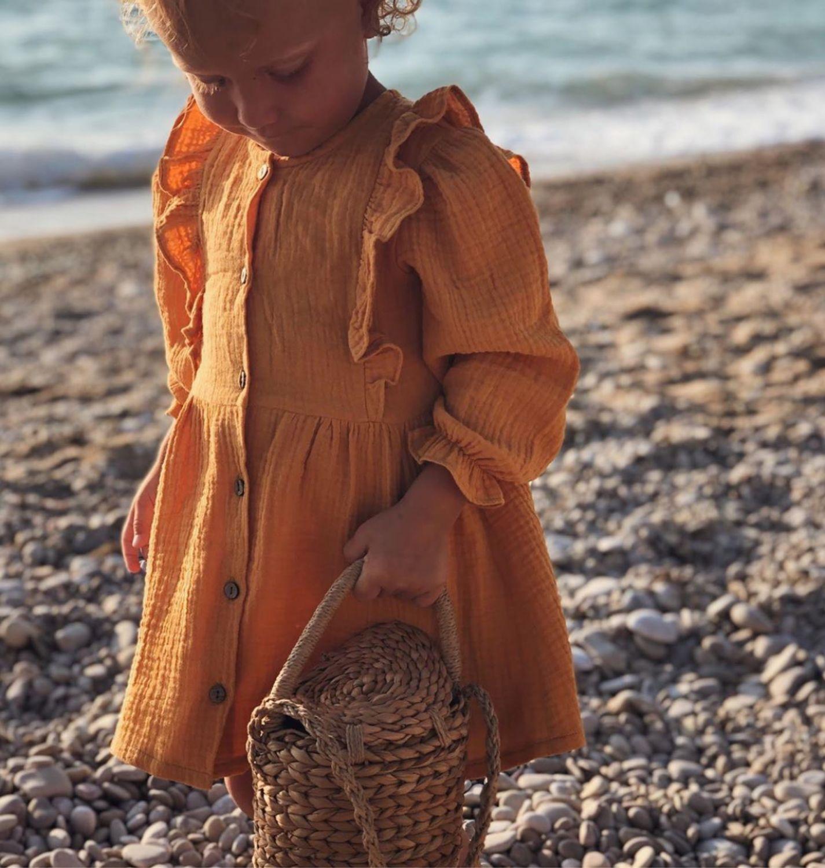 Платье для девочки из муслина, Одежда, Москва,  Фото №1