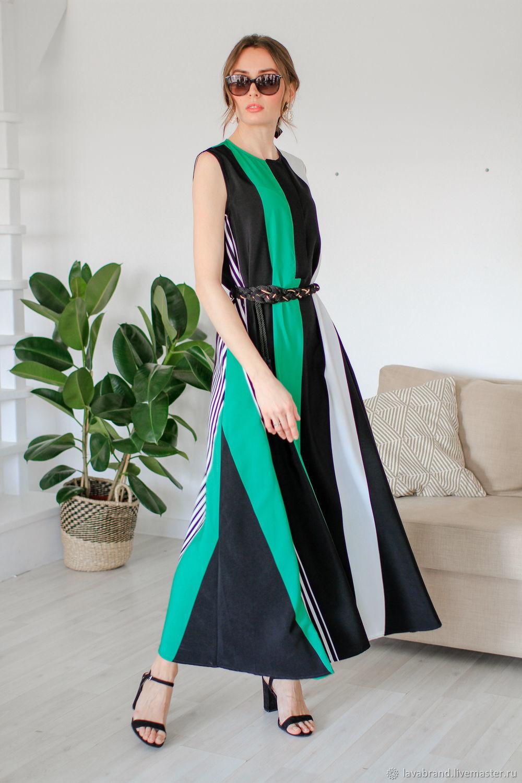 1cd622772033967 Платья ручной работы. Ярмарка Мастеров - ручная работа. Купить Длинное  летнее зеленое платье.
