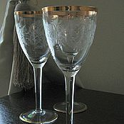 Винтаж handmade. Livemaster - original item Glasses, wine glasses, vintage glass Czechoslovakia. Handmade.