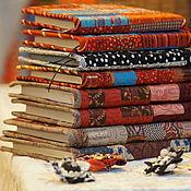 """Канцелярские товары ручной работы. Ярмарка Мастеров - ручная работа Блокнот в лоскутной обложке""""Лоскутный офис"""". Handmade."""