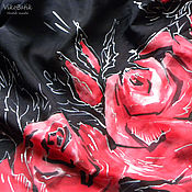 Аксессуары handmade. Livemaster - original item Natural silk Scarf