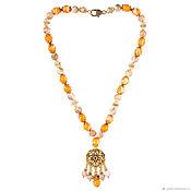 Фен-шуй и эзотерика handmade. Livemaster - original item Necklace made of natural stones mother-of-pearl