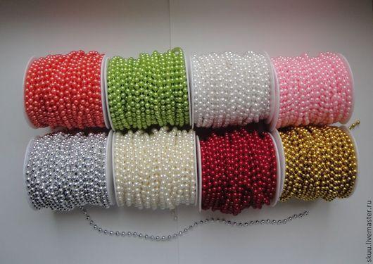 Другие виды рукоделия ручной работы. Ярмарка Мастеров - ручная работа. Купить Бусы на нитке 6 мм 8 цветов. Handmade.