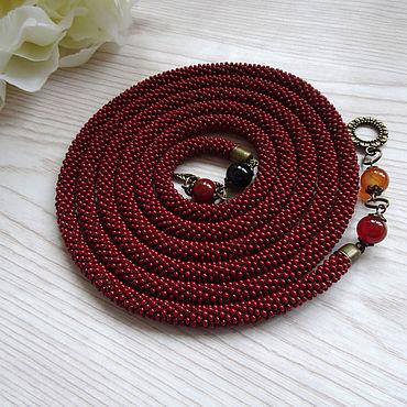Decorations handmade. Livemaster - original item Lariats: string of beads
