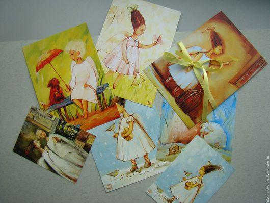 Открытки на все случаи жизни ручной работы. Ярмарка Мастеров - ручная работа. Купить Добрые дела.(набор открыток). Handmade. Ангел