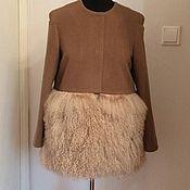 Одежда ручной работы. Ярмарка Мастеров - ручная работа Пальто с опушкой из ламы. Handmade.