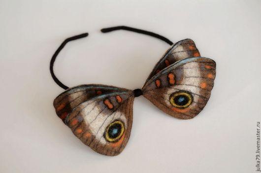Галстуки, бабочки ручной работы. Ярмарка Мастеров - ручная работа. Купить Бабочка галстук. Handmade. Бежевый, бабочка из шерсти, войлок