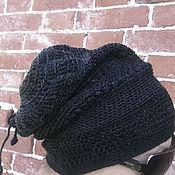 Аксессуары ручной работы. Ярмарка Мастеров - ручная работа шапа9 - минимализм черного. Handmade.