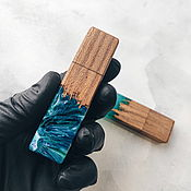 Сувениры и подарки handmade. Livemaster - original item Flash drives are handmade from wood and epoxy resin. Handmade.