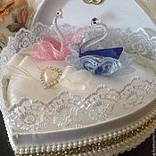 Свадебный салон ручной работы. Ярмарка Мастеров - ручная работа Коробка- шкатулка для колец. Handmade.