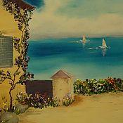 """Картины и панно ручной работы. Ярмарка Мастеров - ручная работа """"Жаркий полдень"""" Средиземноморье Картина маслом. Handmade."""
