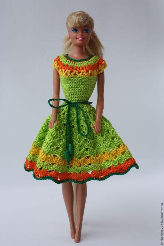 Одежда для кукол ручной работы. Ярмарка Мастеров - ручная работа. Купить платье. Handmade. Платье для куклы, одежда для барби