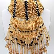"Украшения handmade. Livemaster - original item Necklace stand ""Golden Lady"". Handmade."