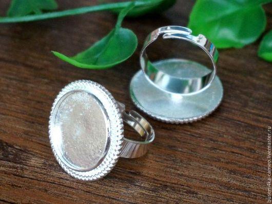 Для украшений ручной работы. Ярмарка Мастеров - ручная работа. Купить Основа для кольца Косичка 18мм, серебристая. Handmade.