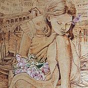 """Картины и панно ручной работы. Ярмарка Мастеров - ручная работа Картина """"Девочка"""". Handmade."""