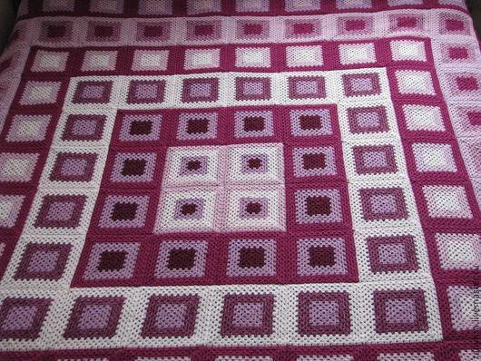 Текстиль, ковры ручной работы. Ярмарка Мастеров - ручная работа. Купить плед. Handmade. Разноцветный, покрывало, вязаный, шерсть с акрилом