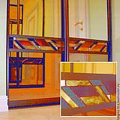 Для дома и интерьера ручной работы. Ярмарка Мастеров - ручная работа Витражные вставки в двери-купе. Handmade.