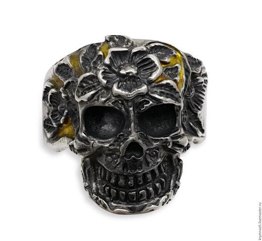 """Кольца ручной работы. Ярмарка Мастеров - ручная работа. Купить Кольцо """"Череп"""" из серебра, перстень серебро, мужское или женское. Handmade."""