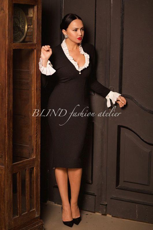 Платья ручной работы. Ярмарка Мастеров - ручная работа. Купить Платье 00262. Handmade. Черный, белый