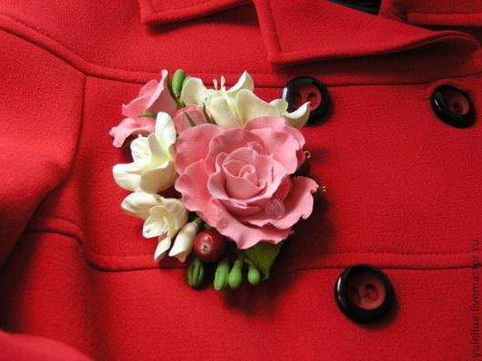 """Броши ручной работы. Ярмарка Мастеров - ручная работа. Купить Брошь """"Росинка"""". Handmade. Розовый, подарок девушке"""
