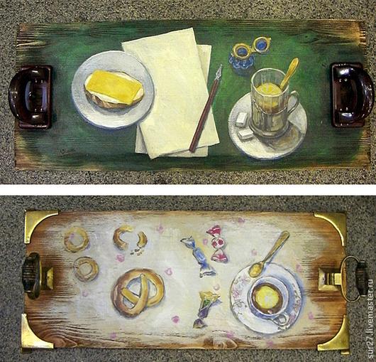 Кухня ручной работы. Ярмарка Мастеров - ручная работа. Купить Подносы. Handmade. Ручная авторская работа, на заказ, поднос для завтрака